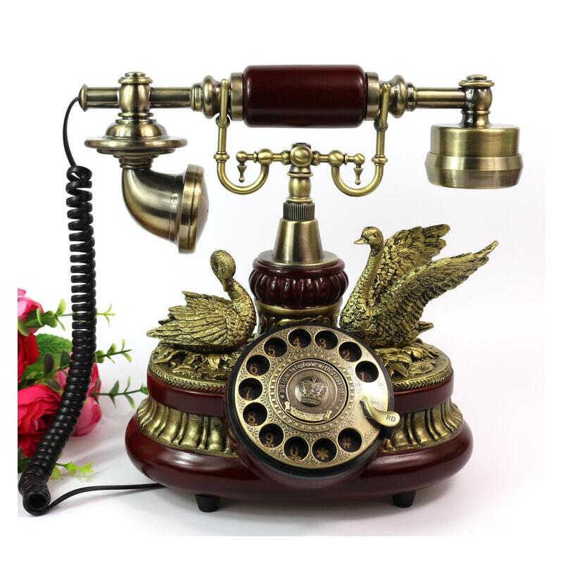 至臻仿古电话机 转盘 欧式老式复古电话座机 田园时尚古董电话159