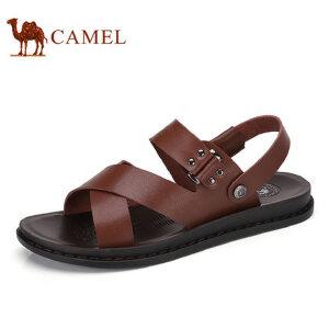 camel骆驼男鞋 2017夏季新品 日常休闲男鞋凉鞋露趾沙滩凉鞋