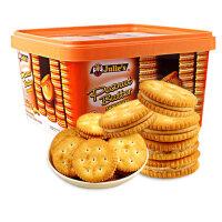 包邮 马来西亚进口饼干零食饼干茱蒂丝花生酱夹心盒装