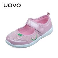 【满200减100】UOVO 2017新款童鞋春夏季儿童休闲鞋中大女童鞋 安妮尔