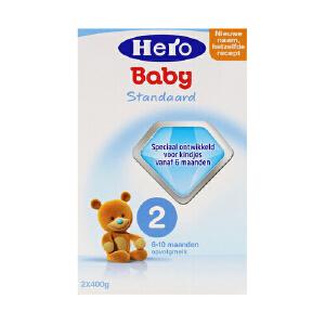 荷兰美素天赋力(Hero Baby)婴幼儿配方牛奶粉2段(10-12个月宝宝)800g一盒装 保质期到17年12月左右