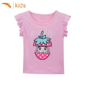 安踏童装新款小童夏季短袖儿童t恤运动服小女孩上衣可爱36729154