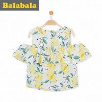 巴拉巴拉 童装儿童短袖衬衫女宝宝上衣半袖 2017夏新款小童女童衬衣