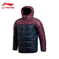 李宁男装运动生活系列保暖轻薄修身短款羽绒服AYMJ119