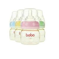 bobo乐儿宝 婴儿奶瓶 金彩系列初生两用小金瓶  80ml