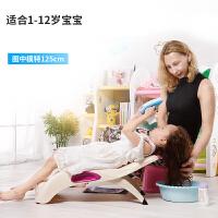 【领券立减100】御目 椅子 儿童洗头椅宝宝洗头床小孩洗头躺椅洗发椅可折叠加厚加大椅子 创意家具