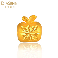 DIASENN/德诚珠宝黄金3d硬金苹果转运珠男女款招财首饰庆生礼物
