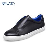 宾度benato男鞋休闲牛皮纯色户外青年休闲皮鞋