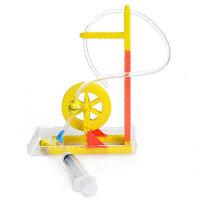 儿童礼品科学实验教具 幼儿园益智玩具物理科技小制作发明水轮车组装