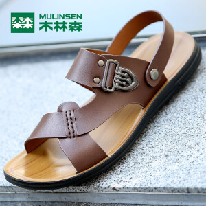 木林森男凉鞋 2017春夏男士沙滩鞋舒适透气男休闲凉鞋05267725