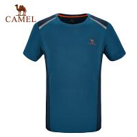 camel骆驼户外男款功能圆领T恤 透气排汗速干快干短袖T恤