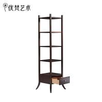优梵艺术 Carpa美式简易五层架实木书架客厅置物架落地收纳储物架