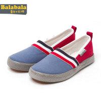 巴拉巴拉男童帆布鞋夏季童鞋中童条纹布鞋儿童休闲鞋子