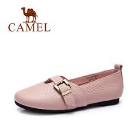 Camel/骆驼女鞋 春季新款 舒适休闲圆头单鞋春夏时尚浅口单鞋