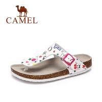 Camel/骆驼女鞋 2017夏季新品 沙滩休闲拖鞋女 简约耐磨防滑拖鞋