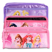 小学生迪士尼公主铅笔袋简约女童笔袋大容量女文具盒节日礼物笔袋