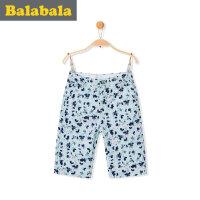 巴拉巴拉 男童短裤中大童童装裤子 2017夏季新款儿童中裤 男孩五分裤