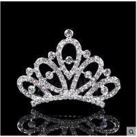韩版时尚皇冠闪亮彩色水钻新款儿童发饰女童头饰公主发簪