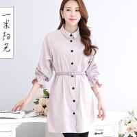 一米阳光2017春款韩版薄款风衣女中长款收腰修身显瘦外套