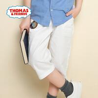[满200减100]托马斯童装夏季新款男童轻薄休闲纯棉短裤七分裤舒适透气