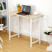 大豪时尚简约折叠桌学习桌折叠台式电脑桌办公桌床边桌 免安装