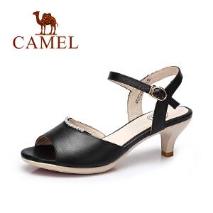 camel骆驼女鞋 2017夏季新款 欧美时尚女士凉鞋 舒适优雅高跟鞋