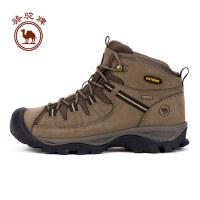 骆驼牌男款户外登山鞋防滑减震秋冬磨砂男款登山鞋