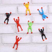 攀岩蜘蛛侠 翻跟斗/爬墙超人 粘墙小精灵玩具 80后怀旧