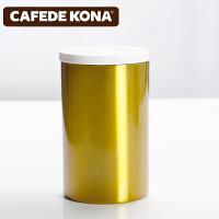 CAFEDE KONA密封罐 不锈钢储物罐干果咖啡奶粉茶叶零食储存罐瓶 密封罐CK-8069(金色)