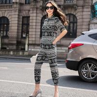 桑蚕丝两件套2017新款韩版修身休闲气质真丝时尚套装女夏