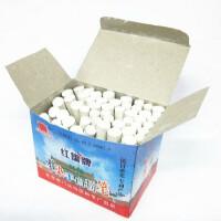 北京红旗不染手白色粉笔 环保粉笔老师儿童黑板白粉笔 微尘约60支