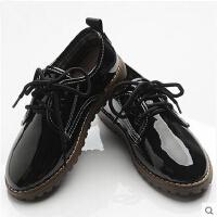 韩版漆光面皮简约时尚礼服皮鞋男童皮鞋 儿童亮面款花童皮鞋