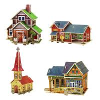 若态木质手工DIY小屋立体拼图世界风情建筑儿童玩具成人益智玩具 拼装达人 建筑收藏