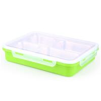 保温餐盒304不锈钢分格饭盒学生便当盒长方形加深4四格