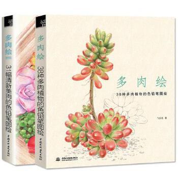 多肉绘1 2 全2册 飞乐鸟 艺术绘画色铅笔画素描 花之绘植物绘猫咪绘