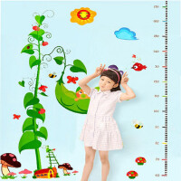 儿童房装饰玩具自粘墙纸贴画宝宝卧室幼儿园可移除卡通量身高贴纸墙贴
