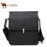Camel骆驼男包男士单肩包商务休闲斜挎包男版竖款小包男翻盖背包