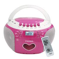 【当当自营】熊猫(PANDA) CD-350 DVD复读机胎教机插卡录音收录机磁带USB播放器MP3播放机收音机(红色)