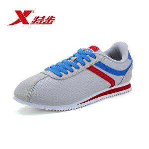 特步男鞋春季小白鞋男女板鞋时尚舒适轻便学生休闲鞋情侣运动鞋子985119323397