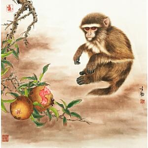 王生勇《猴》著名画家