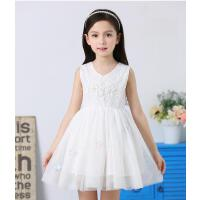 新款童装中大童韩版蓬蓬纱裙儿童女童夏装连衣裙公主背心裙子 可礼品卡支付