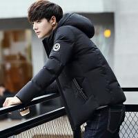 冬季新款男士羽绒服修身韩版短款加厚连帽男装外套青年潮