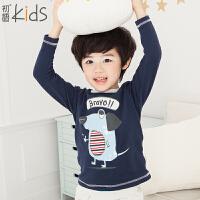 初语童装冬装男童T恤卡通打底衫长袖儿童T5401110051