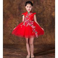 儿童旗袍裙公主裙 女童时尚旗袍童装 中国风连衣裙演出服唐装