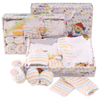 班杰威尔 2016春夏新生儿礼盒10件套纯棉婴儿内衣 母婴用品初生满月宝宝套装