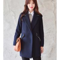 女外套 大衣 新款韩版修身中长款外套小个子女毛呢外套学生学院风加厚呢子大衣
