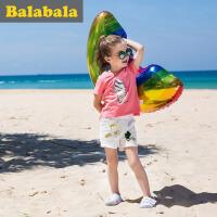 巴拉巴拉童装儿童短裤女宝宝童裤休闲裤2017夏季新款小童女小童裤子