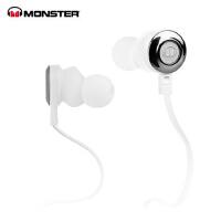 MONSTER/魔声 CLARITY HD灵晰入耳式面条魔声耳机 运动魔音耳机 白色