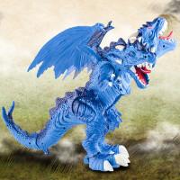 仿真双头恐龙霸王龙双头龙电动恐龙玩具儿童玩具仿真动物模型行