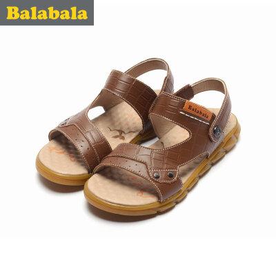 巴拉巴拉童鞋男童单鞋中大童2017夏季新款凉鞋儿童男童鞋子休闲夏